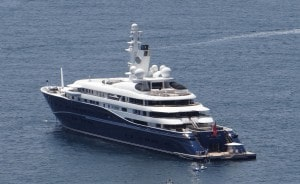Al Mirqab- one of the largest motorised yachts ever constructed