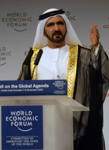 Mohammed Bin Rashid Al Maktoum, Vice-President and Prime Minister of the UAE, at the Summit on the Global Agenda,