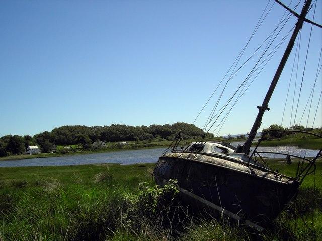 abandoned yacht