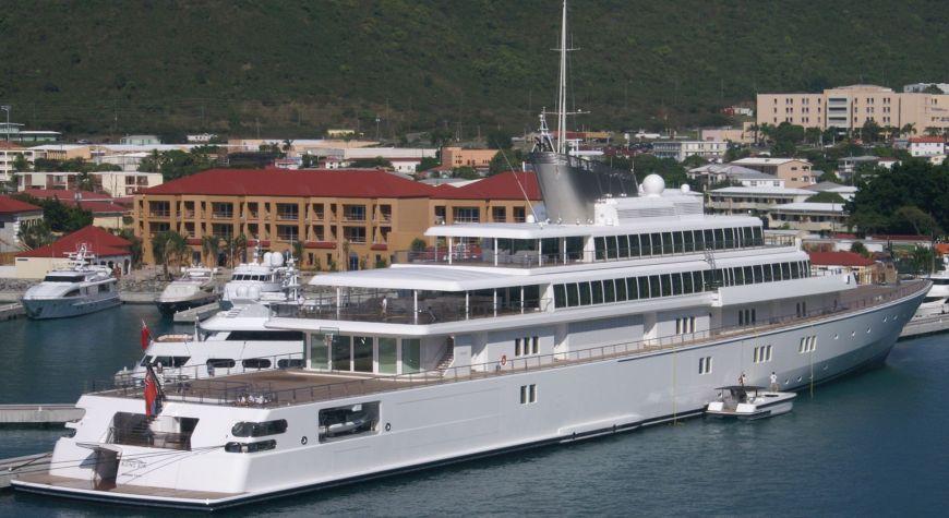 David Geffen's Yacht – Rising Sun